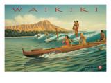 Waikiki Adhésif mural par Kerne Erickson