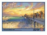 Huntington Beach Autocollant par Kerne Erickson