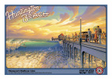 Huntington Beach Wall Decal by Kerne Erickson