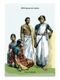 Hindu King and Family, 19th Century Wall Decal by Richard Brown