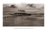 Vol d&#39;Amelia Earhart, Oakland &#224; Honolulu, le 17 mars 1937 Autocollant mural par Clyde Sunderland