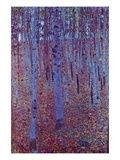 Beech Forest Wall Decal by Gustav Klimt