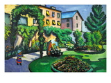Garden Image Wall Decal by Auguste Macke