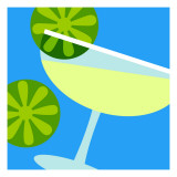 Tipsy Margarita Wall Decal