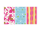 Bright Patterns Triptych Wall Decal