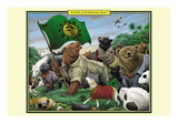 A Sloth of Prolibearean Bears Wall Decal by Richard Kelly