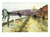 Charles River and Beacon Hill Wall Decal by Childe Hassam