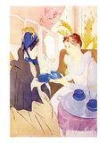 Tea In The Afternoon Wall Decal by Mary Cassatt