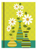 Stripes and Daisies Wall Decal