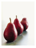 Traveling Pears in Red Wall Decal
