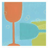 Drink Glasses Wallstickers