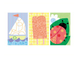 Signs of Summer Triptych Wall Decal