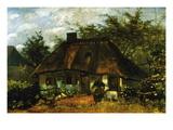 Sommerhäuschen Wandtattoo von Vincent van Gogh