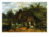 Cottage Wall Decal by Vincent van Gogh