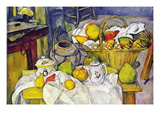 Still Life with Fruit Basket Wall Decal by Paul Cézanne