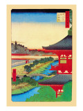 Kameido Shrine Wall Decal by Ando Hiroshige