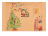 Merry Christmas To Mother Vinilos decorativos por Norma Kramer