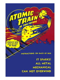 Atomic Train of The Future Wall Decal