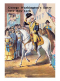 George Washington's Entry Into New York Wall Decal