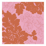 Red and Pink Floral Pattern Wallstickers
