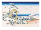 View of Mount Fuji in Winter Wallstickers af Katsushika Hokusai