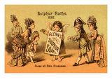 Glenn's Sulphur Soap - Cures All Skin Diseases Wall Decal