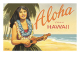 Aloha from Hawaii Wall Decal by Kerne Erickson