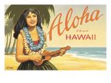Aloha from Hawaii Adesivo de parede por Kerne Erickson