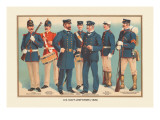 U.S. Navy Uniforms 1899 Wall Decal by Werner