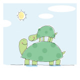 Ride for Baby Turtle Wallstickers