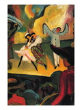Russian Ballet Wall Decal by Auguste Macke