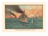 Naval Battle of Manil May 1st, 1898 Wall Decal by  Werner