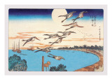 Harvest Moon Wall Decal by Ando Hiroshige