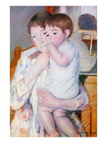 Baby On The Arm of Her Mother Wall Decal by Mary Cassatt