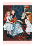 Portrait of The Daughters of Catulle MendAt The Piano Wall Decal by Pierre-Auguste Renoir