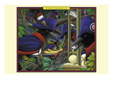 A Murder of Jacobean Crows Wall Decal by Richard Kelly