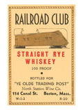 Railroad Club Straight Rye Whiskey Wall Decal