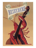 Lobster Musician at the Belvedere Hotel and Casino Wall Decal
