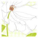 White Flower Wallstickers