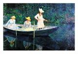 Women Fishing Wallsticker af Claude Monet