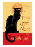 Tournee du Chat Noir Avec Rodolptte Salis Veggoverføringsbilde av Théophile Alexandre Steinlen