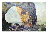 The Rocky Cliffs of retat (La Porte Man) Wall Decal by Claude Monet