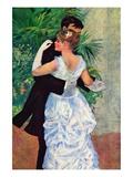 The Dance In The City Veggoverføringsbilde av Pierre-Auguste Renoir