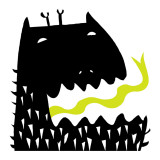 Monster with Yellow Tongue Wall Decal
