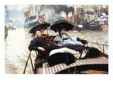 The Thames Wall Decal by James Tissot