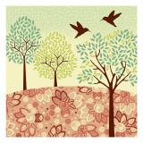 Hazy Day Hummingbirds Wallstickers