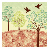 Hazy Day Hummingbirds Wall Decal