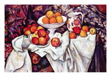 Still Life with Apples and Oranges Wallsticker af Paul Cézanne