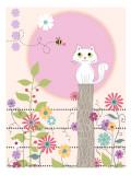 Kitty Kat Summer Kalkomania ścienna