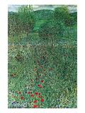 Garden Landscape Wallstickers af Gustav Klimt